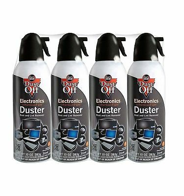 Falcons Dust Off Compressed Gas Air Duster Keyboards Computers, 4 Pack, 10 oz