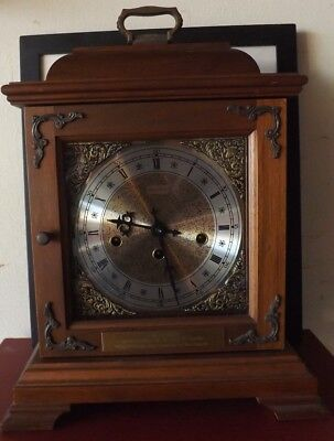 Hamilton 1/4 Hour Chime Mantle Clock #340-020 8 Day West Chime W/ Key FOR PARTS