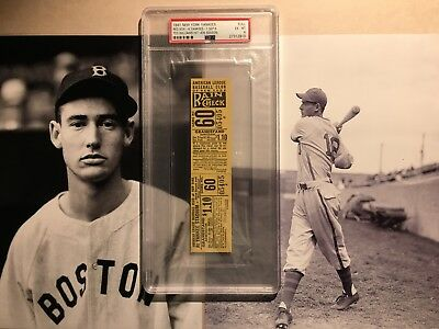 1941 Boston Red Sox New York Yankees Ticket Ted Williams .406 Season