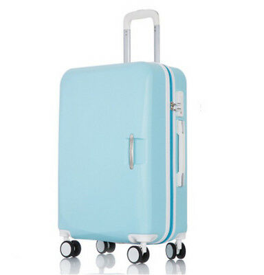 D905 Blue Lock ABS Universal Wheel Travel Suitcase Luggage 24 Inches W