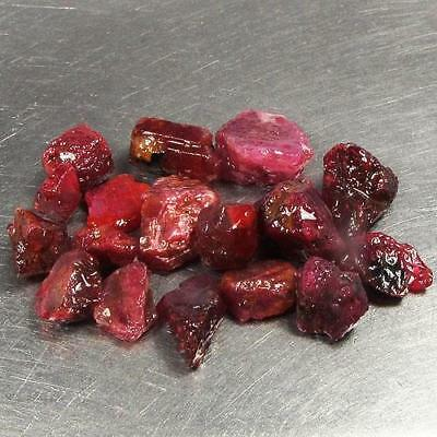 Lot 35.81 Ct - Wonderful Unheated Natural Rough Red Ruby Madagascar