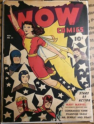 Wow Comics #31 Mary Marvel, Commando Yank Phantom Eagle and more! 1944 Shazam!