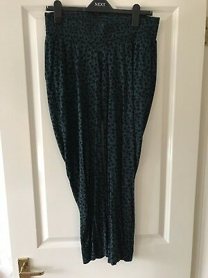 H&M Mama Dark Turquoise/Patterned Trousers Size Medium
