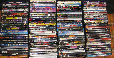 DVD Lot Comedy Horror Action Thriller Western War Movie 100 dvds Movies Films