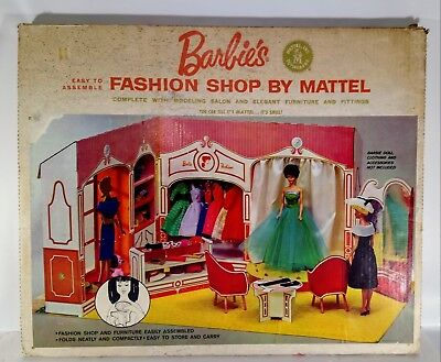 1963 Barbie Fashion Shop By Mattel in UNOPENED SEALED BOX