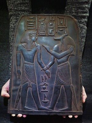 EGYPTIAN ANTIQUE ANTIQUITIES Tutankhamun Anubis Stela Relief 1213-1279 BC