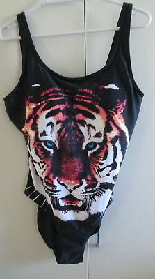 Girl Express Size 14 Big Cat Tiger One Piece Bust Support Swim wear Bathers