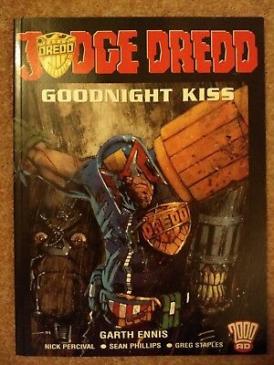 2 Large Judge Dredd Graphic Novels By Garth Ennis art by Steve Dillon and others
