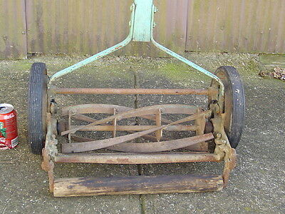 """Antique Great States 400 Manual push Rotary REEL lawn MOWER 16"""" Cut grass vintag"""