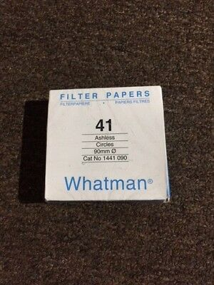 Whatman Filter Paper #41 Ashless, 90mm, 100 count. 1441--090 Listing 2