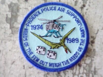 Police Air Support Aviation Flight Officer Airwing Helicopter Patch