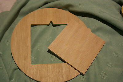 Pottery wheel 279.4mm Batt with 145mm square bisque tile in  9mm Marine Ply