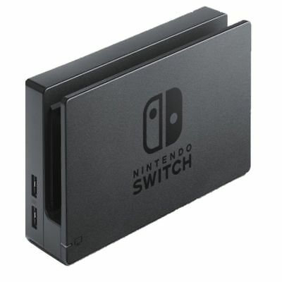 New Official Nintendo Switch Charging Dock + AC Power Cable Adapter Set - Black