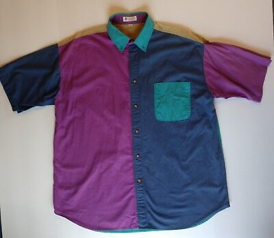 Vintage Colombia Mens Button Up Shirt - Size X Large