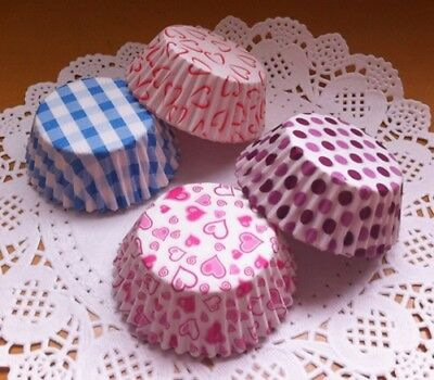 100 Colorful Mini Cupcake Liners Muffin Case Cake Paper Baking Cups 8.5 cm