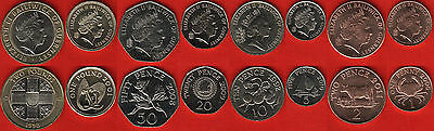 Guernsey set of 8 coins: 1 penny - 2 pounds 1998-2011 UNC