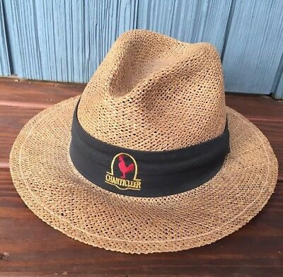 78fc5cc16785f Vtg Chanticleer Rooster Straw Fedora Hat, USA Made