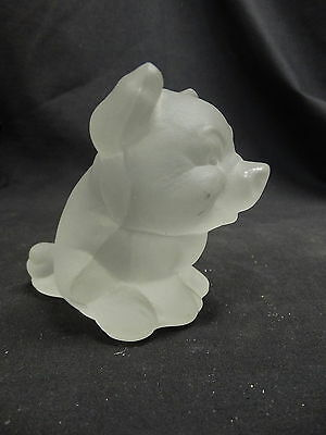 Goebel Frosted Glass Pig Figurine paperweight