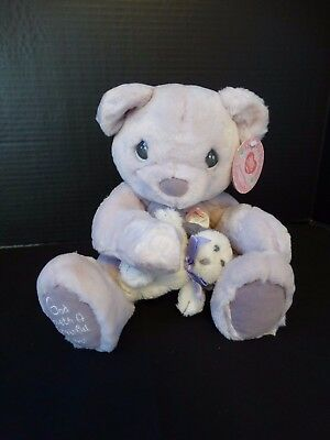 Precious Moments Hugs for the Soul Bear GOD LOVETH A CHEERFUL LEADER 680850P NWT
