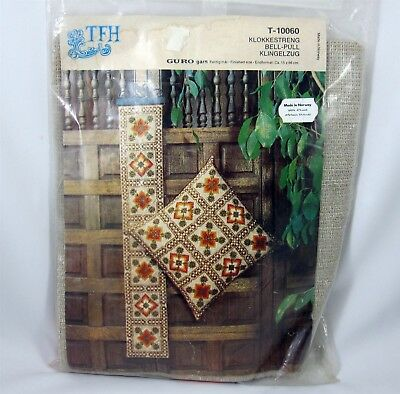 Scandinavian Needlework Bell Pull Kit Vintage Needlepoint Made in Norway