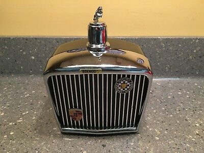VintageMusic Box Decanter Jaguar Car Grill Royal London Grand Prix