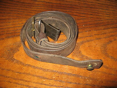 """Swedish leather Mauser sling m1896 m96 m38 6.5x55 good used 1 3/16"""" wide"""