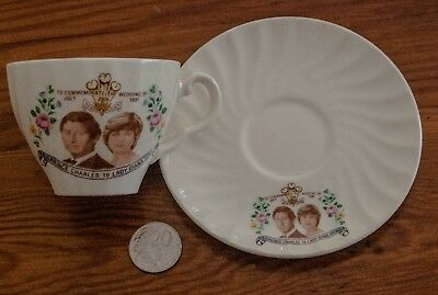 H.R.H Prince Charles to Lady Diana Spencer, cup and saucer -Johnson of Australia