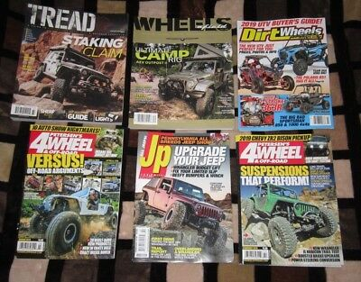 Mixed Lot of 6 Off Road 4 Wheeler Magazines 2018/ 2019 Brand New Free Shipping