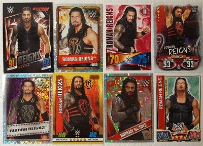WWE ROMAN REIGNS  trading Card  LOT US + UK no doubles