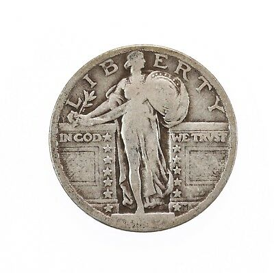Raw 1919 Standing Liberty 25C Uncertified Ungraded Circulated US Mint Silver