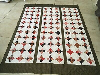 Unfinished Quilt Top Oriental Metallic 57 X 72 Inches Approx