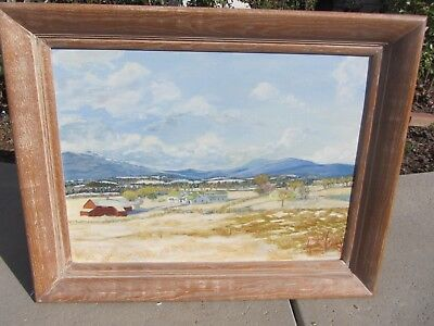 "Beautiful Signed Vintage Landscape Oil Painting 18"" X 24"""
