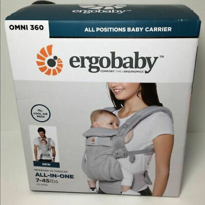 NEW ERGOBABY 360 OMNI COOL AIR MESH ERGO BABY Carrier Pearl Grey in colour