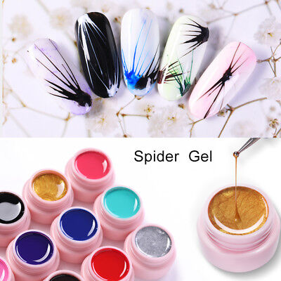 UR SUGAR 5ml Spider Gel Polish Elastic Drawing UV Gel Soak Off Nail Art Varnish