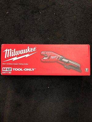BRAND NEW! Milwaukee 2471-20 M12 12V Cordless Copper Tubing Cutter Tool-Only