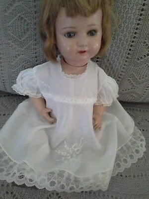 Very lovely and elegant embroideredllace dress,22 inch doll DISPLAY ONLY DRESS#3