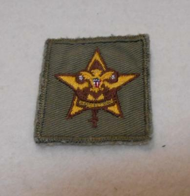 Boy Scouts of America BSA Vintage Square Star Rank Patch m