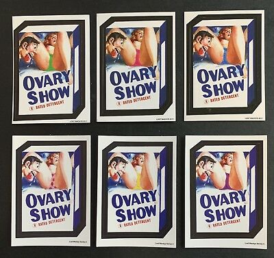2011 & 2018 Lost Wacky Packages OVARY SHOW ALL 6 Color Variations