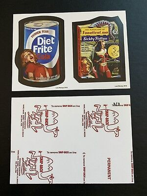 2018 Lost Wacky Packages VARIATIONS Double 1st , 2nd Series RED LUDLOW #3/3