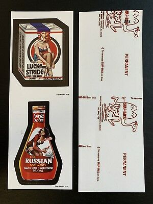 2018 Lost Wacky Packages VARIATIONS Double 1st , 2nd Series RED LUDLOW #2/3