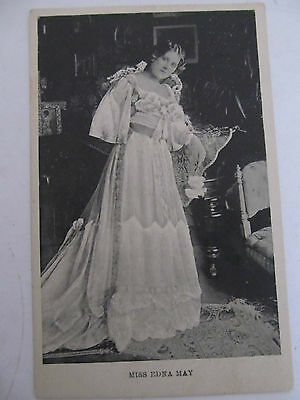 Antique UK postcard Photo Glamour Miss Edna May, unused