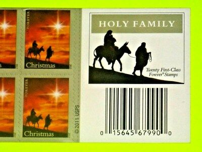 """One ~ (2012)  """"CHRISTMAS HOLY FAMILY""""  *USPS 'Sealed' ~ 'FOREVER' Stamp Pane !"""