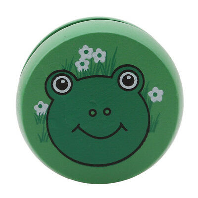 Creative Frog Football Painting Wooden YOYO Wood String Kids Play Toys Gift MN