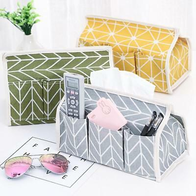 Tissue Box Dispenser Cover Paper Storage Napkin Case Holder Organiser MN