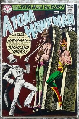The Atom And Hawkman #44 (1969) DC Silver Age! Gentleman Ghost App! Sharp Color!