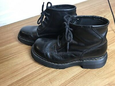 Men's Dr. Martens Black Leather Boots Made In England Size 10