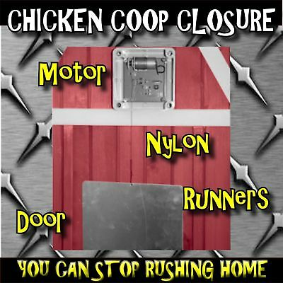 Automatic Auto Chicken Poultry House Coop Door Opener Closer Keep Safe Night