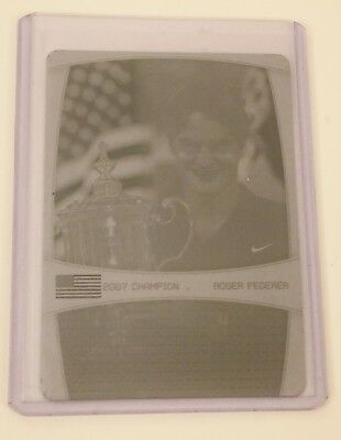 RARE 2008 Ace Authentic, CYAN PRESS PLATE, FEDERER 1 of 1
