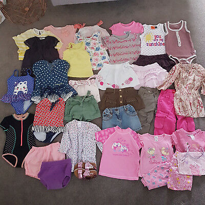 Baby Toddler Girl Bulk Clothing Summer Bulk Bundle Dresses Shorts Tops Swim 2