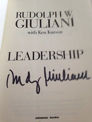 Rudy W Giuliani Leadership Book HC First Edition Autographed Signed